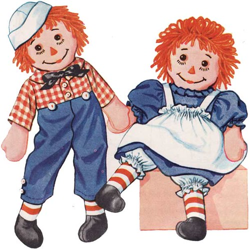 Vintage 1950's Raggedy Ann and Andy Sewing Pattern