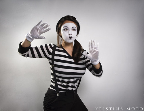 Happy Mime Makeup 30/365: mime time