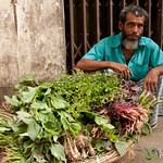 Piles of Greens for Sale - Old Dhaka, Bangladesh