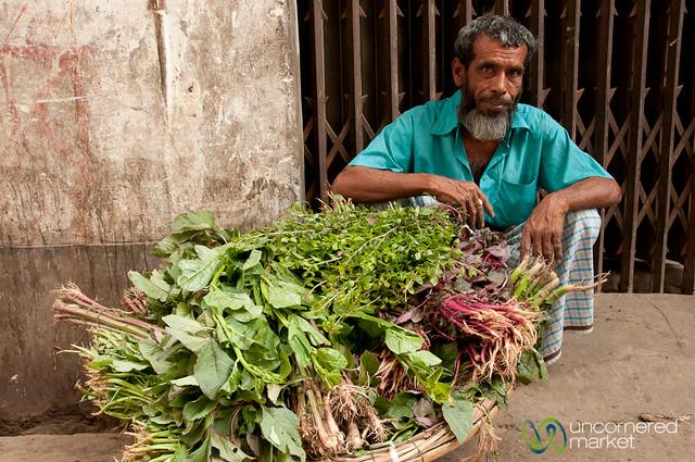Piles of Greens for Sale - Old Dhaka, Bangladesh