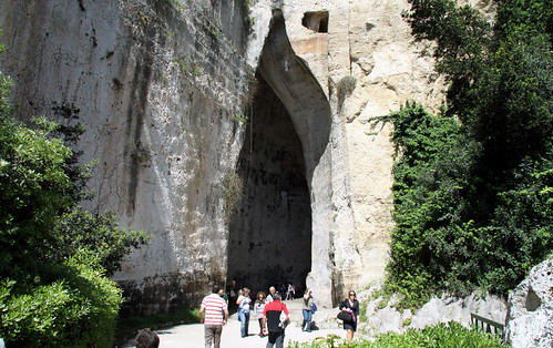 The Ear of Dionysius, Syracuse, Sicily, 2011