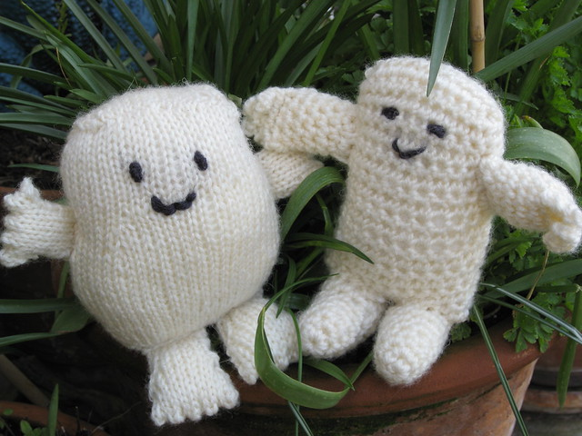 Free Knitting Patterns For Toys And Dolls : knitted Adipose & crocheted Adipose Flickr - Photo Sharing!
