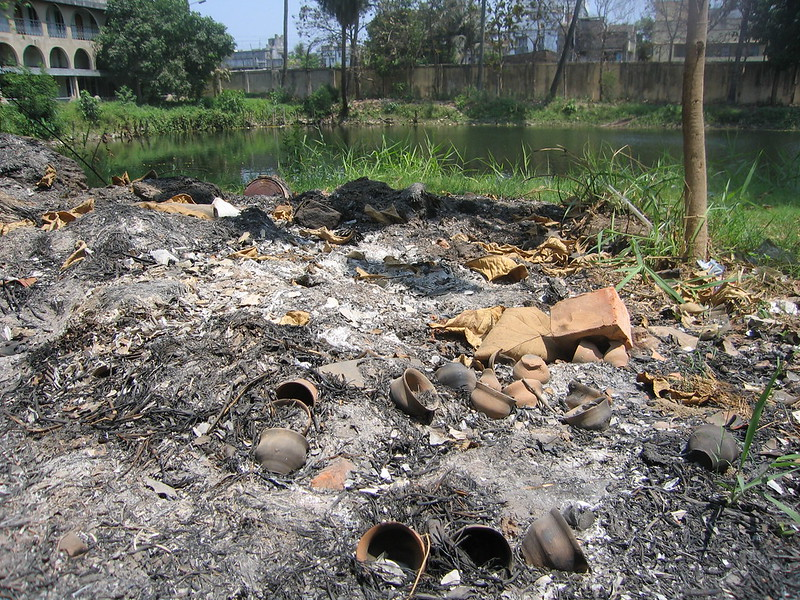 burnt rubbish