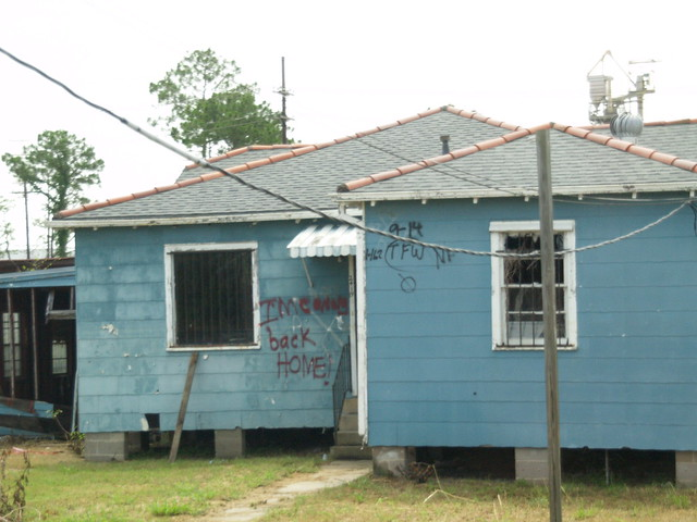 New Orleans Louisiana Hurricane Katrina Aftermath of Homes ...