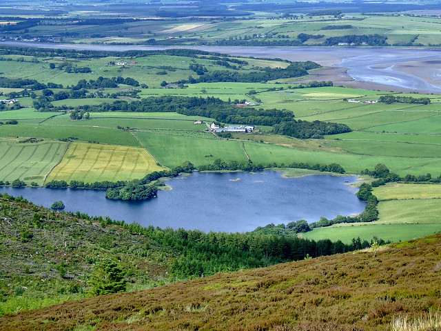 Loch Kindar and the Nith Estuary from Criffel