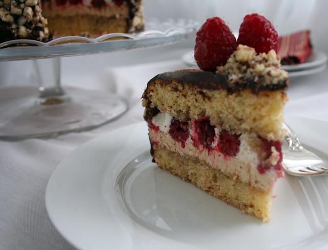 Raspberry Filbert Gateau with Praline Buttercream | Daring B ...