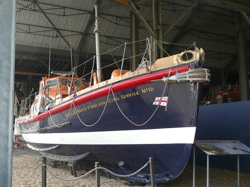 Former Margate Lifeboat at Chatham Dockyard