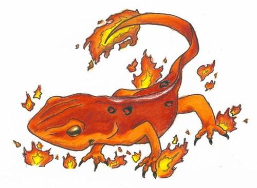 Fire salamander fantasy