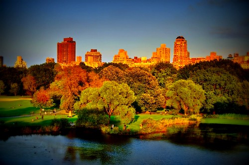 nyc newyorkcity light sunset newyork skyline geotagged pond cityscape centralpark hdr turtlepond mudpig stevekelley