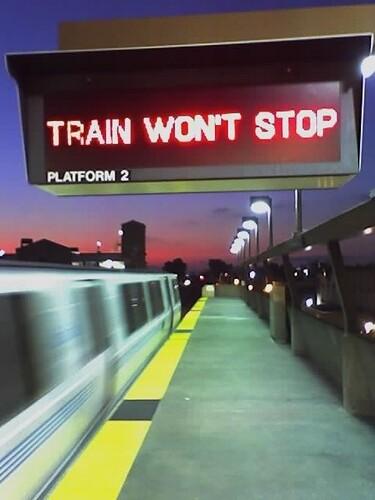train won't stop