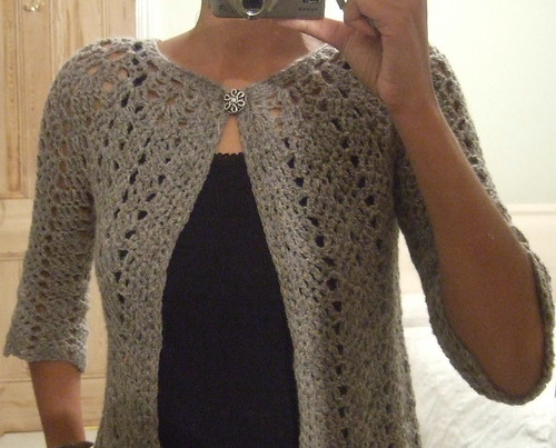 Knitting A Sweater For The First Time : Chevron lace cardigan pattern without seams