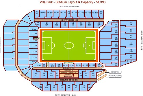 Aston Villa Stadium Seating Plan