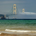 """Bridge to Nowhere"" Foggy Mackinac Bridge - Mackinaw City , Michigan."