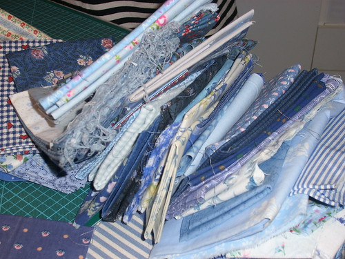 Mom's Blue fabrics