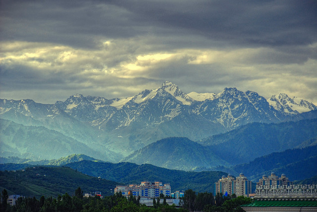 Early morning in Almaty by CC user irene2005 on Flickr