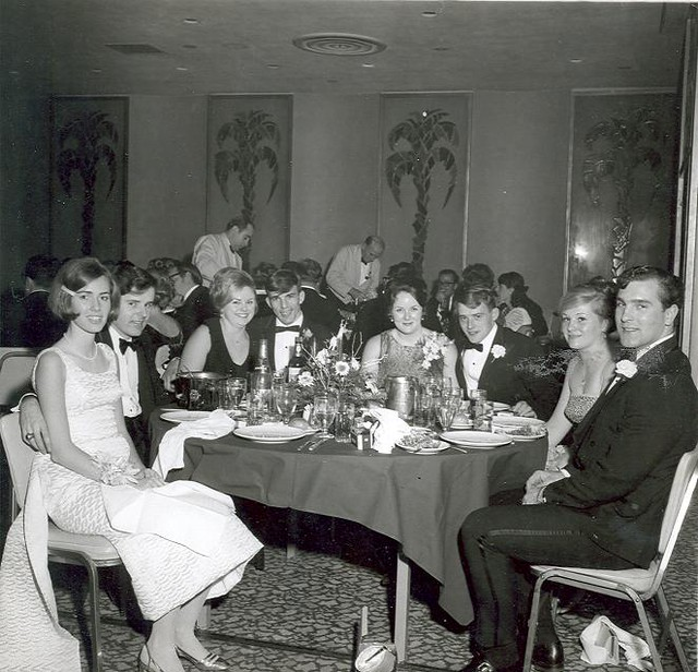 Events (10) - 1970s - Students smiling at a formal dinne