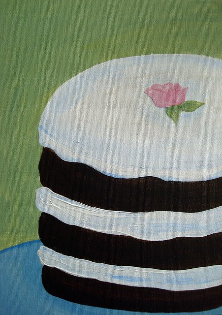 Inspired by Miette's cakes, in acrylic