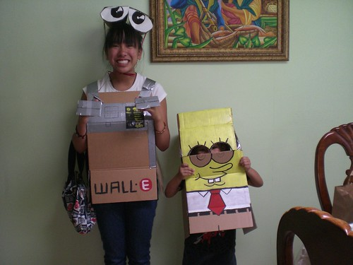 Wall-E and Spongebob