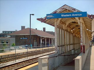 The Metra Western Avenue commuter rail station. Chicago Illinois. June 2007. by Eddie from Chicago