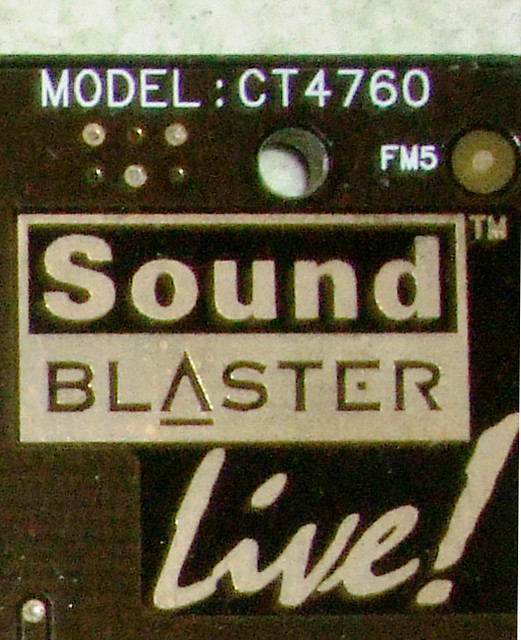 Sound blaster live ct4760