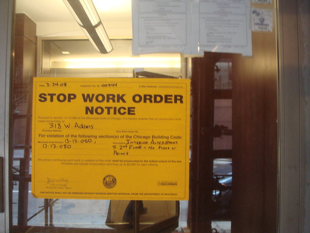 Stop Work Order Notice Flickr Photo Sharing