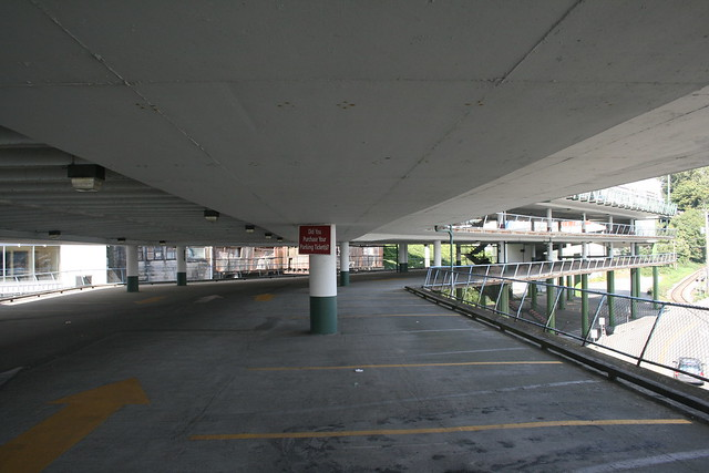 Largely Empty Parking Lot in New Westminster
