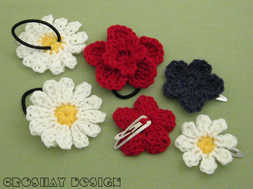Crochet Hair Accessories : crocheted hair accessories Flickr - Photo Sharing!
