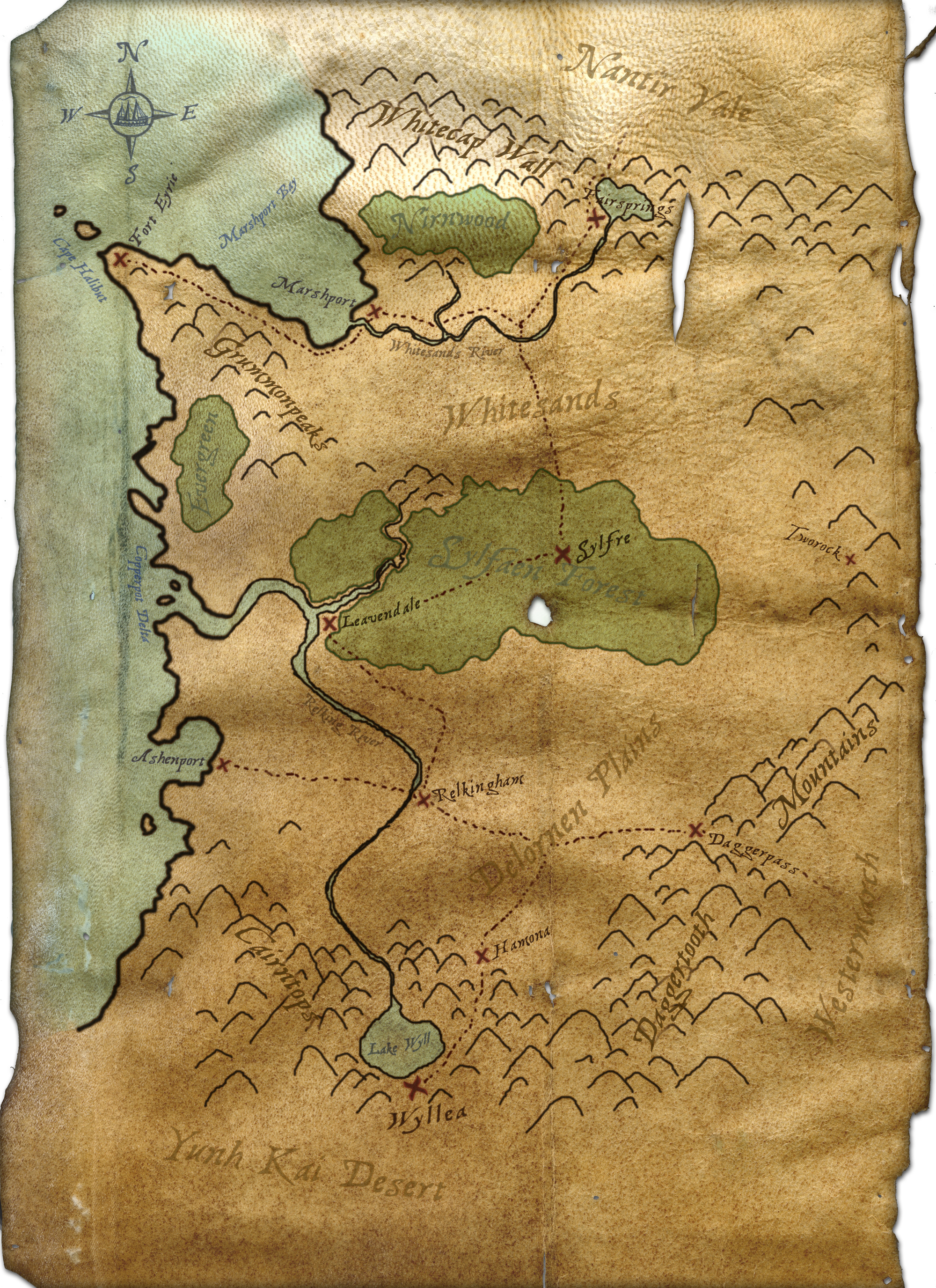 D&D: South Of The Whitecaps Campaign Map