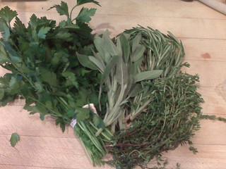 Bunches of Italian Parsley, Sage, Rosemary and Thyme | by Andrew Selvaggio