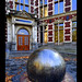 The Steel Ball... at Utrecht University entrance!
