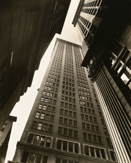 Canyon, Broadway and Exchange Place, by Berenice Abbott 1936