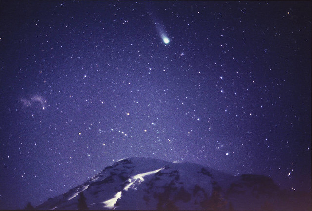 Comet Hyakutake / Mt. Rainier / Paradise #3