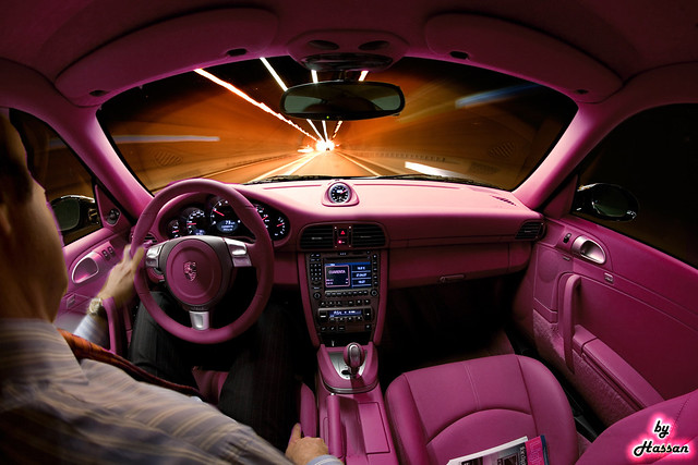 pink porsche carrera interior this is the car that all gir flickr photo sharing. Black Bedroom Furniture Sets. Home Design Ideas