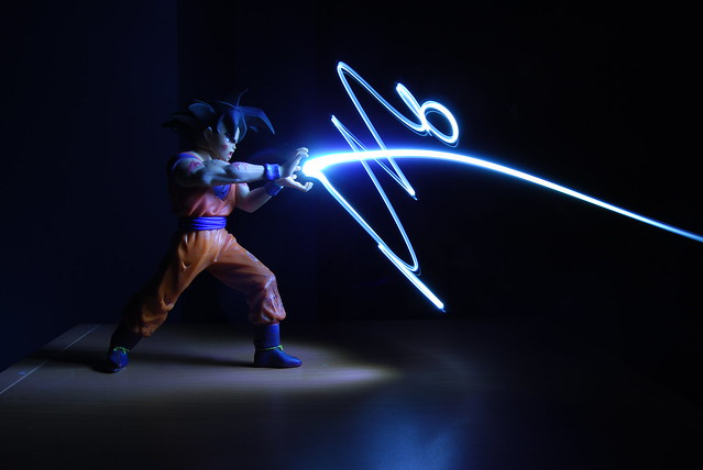 Light Graffiti - Goku