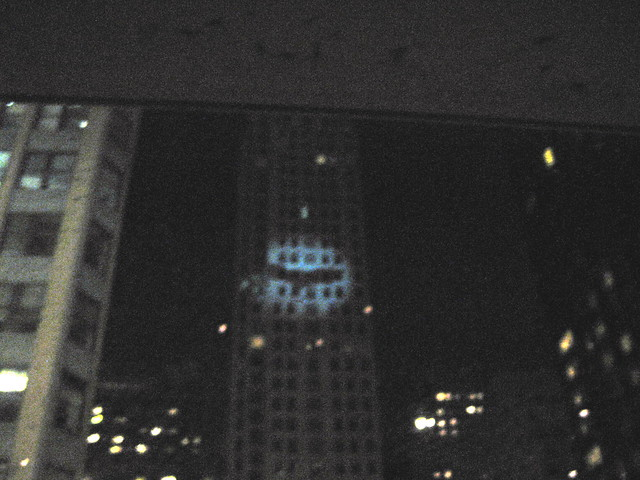 bat signal in midtown this was pre dark knight release n flickr photo sharing. Black Bedroom Furniture Sets. Home Design Ideas