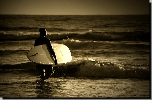 """Last Ride"" End of day Surfer"