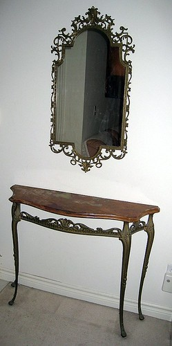 Console & Mirror Set ~ $100
