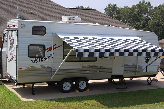 Toy hauler with awning out | Flickr - Photo Sharing!