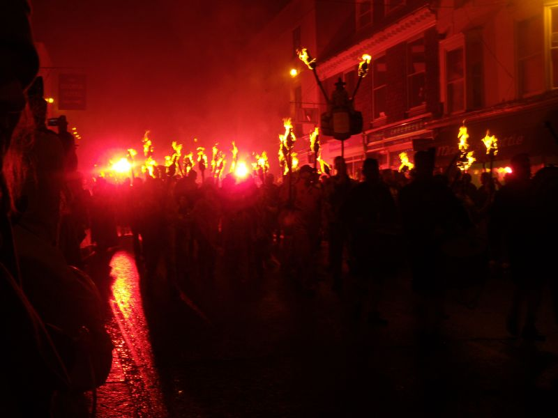 The procession Battle bonfire procession. Robertsbridge to Battle walk.
