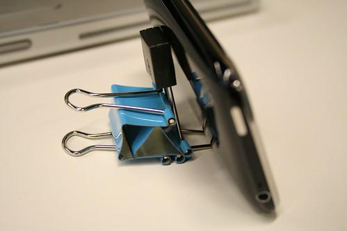 28 innovative uses for binder clips. Black Bedroom Furniture Sets. Home Design Ideas