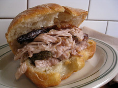 sandwich, meal, breakfast, pork, slider, baked goods, meat, food, dish, cheesesteak, cuisine,