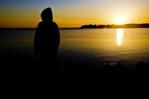 sunset child anawesomeshot