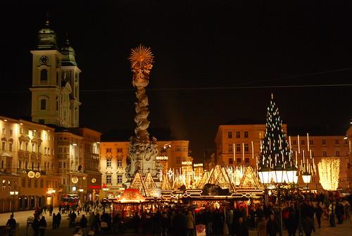 Main Square Linz / Austria  - Hauptplatz Linz / Österreich