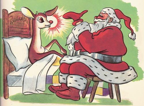 Rudolph Santa by cindyiscrafty