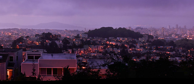 San Francisco Blue Hour...er... Purple hour