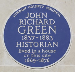 Photo of John Richard Green blue plaque