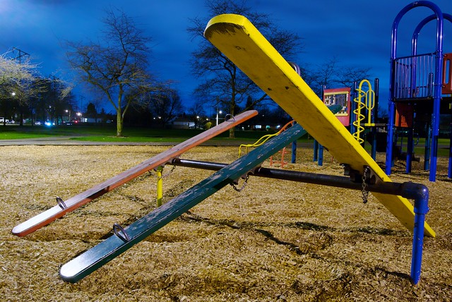 Night Seesaw from Flickr via Wylio
