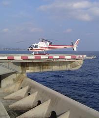 Monaco, Fontvieille heliport. Mobile platform