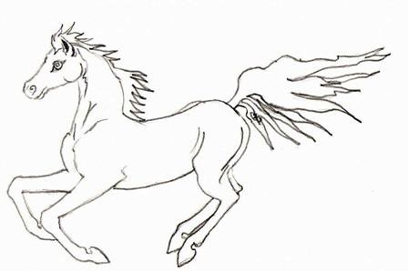 Horse Coloring Pages on Running Arabian Horse Coloring Book Page   Flickr   Photo Sharing