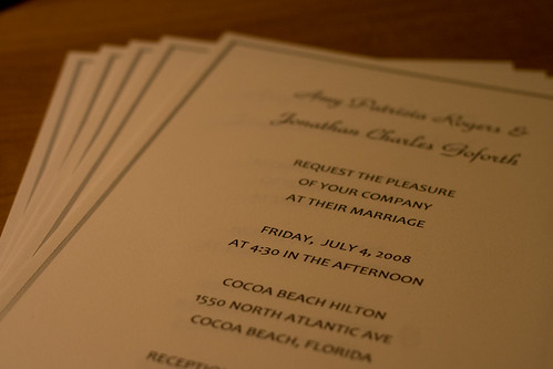 Don't Under-appreciate a Wedding Invitation